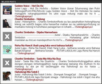 related posts artikel terkait bergambar batak musik