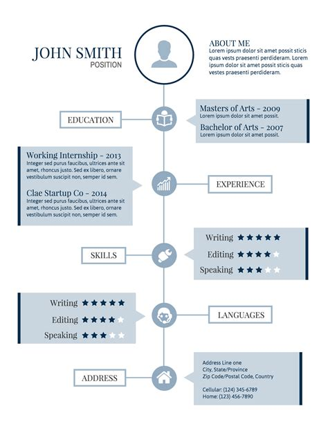 Resume Timeline by Infographic Resume Template Venngage