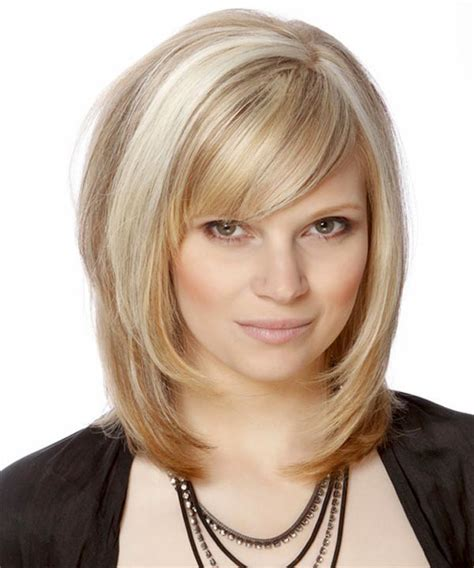 Layered Medium Hairstyles For Hair by Layered Hairstyles For Medium Length Hair With Side Fringe