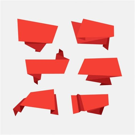 Origami Banner Vector - decorative origami banners vector free