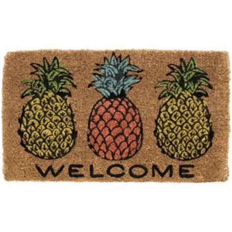 Pineapple Doormat The Pineapple Front Stoop And Symbols On