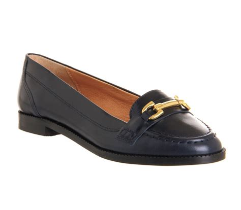 loafers shoes office teach loafer shoes in blue for navy lyst