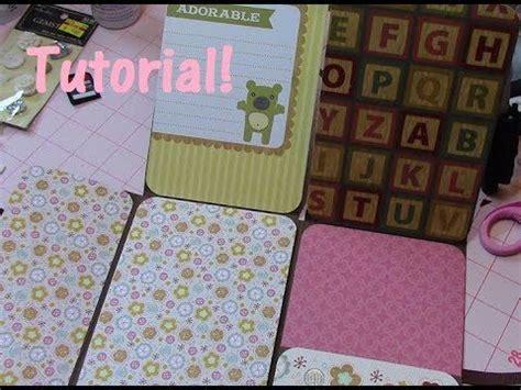 tutorial scrapbook youtube mini album folio from one 12x12 paper tutorial for 4x6