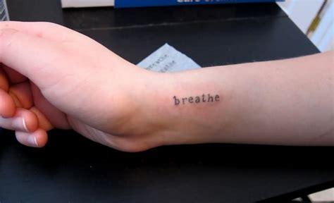 cool wrist breathe tattoos