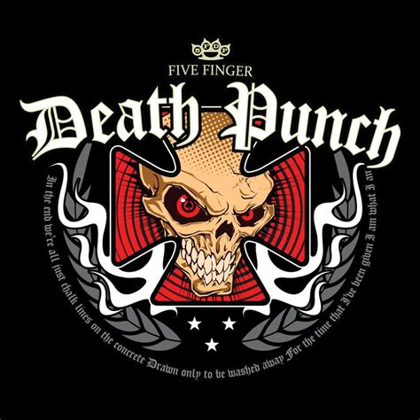 Tshirt Five Finger Punch five finger punch t shirt iron cross 19 90