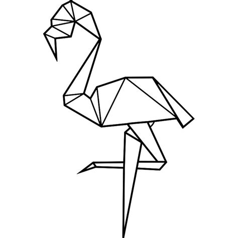 Beautiful Stickers Muraux Chambre Adulte #13: Sticker-flamant-rose-en-origami.jpg