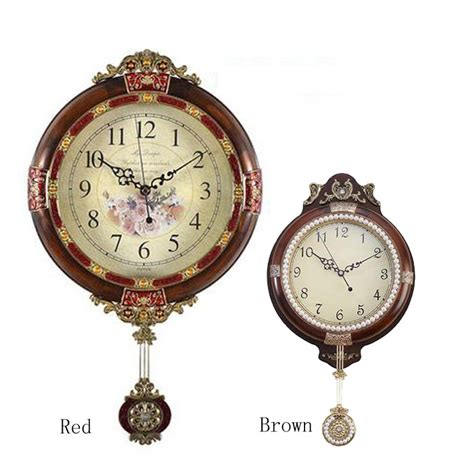 decorative clock new arrive free shipping solid wood brown single face wall