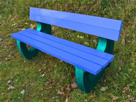 blue bench colne rainbow garden bench multicoloured recycled