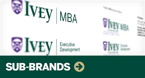 Ivey Health Sector Mba by Visual Identity System Ivey Brand Ivey Business School