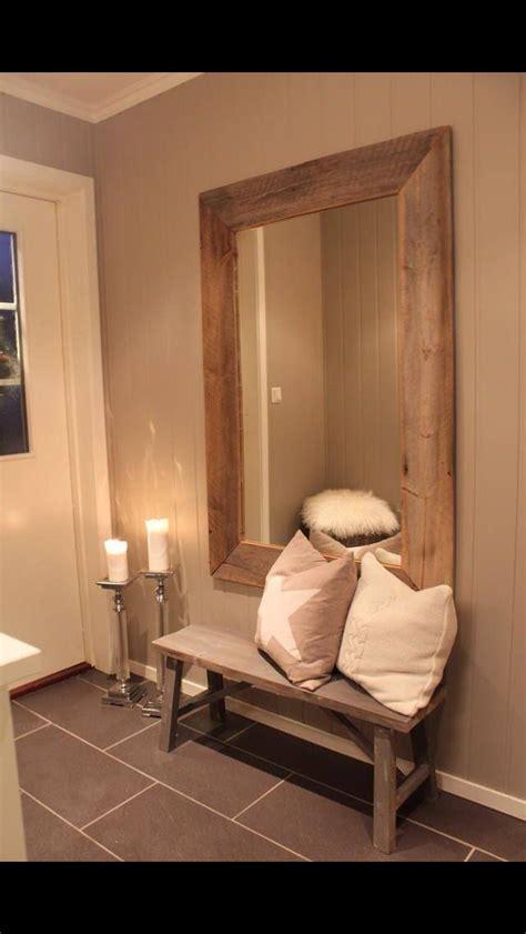 large mirror  hallway entrance  create  light