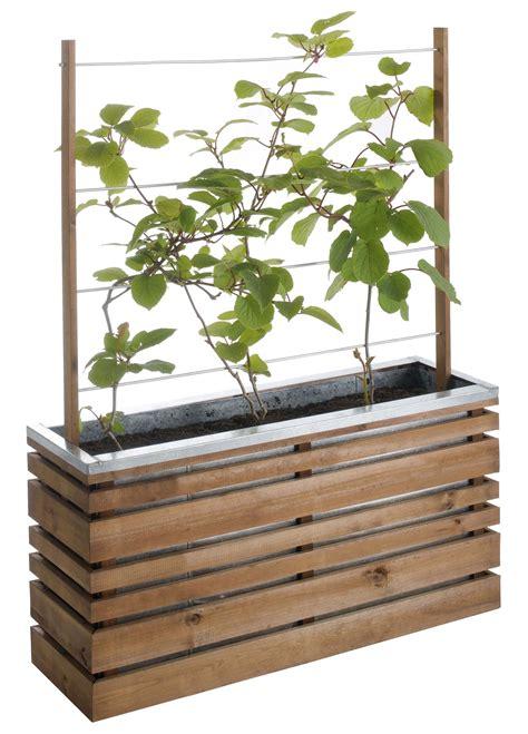 bac avec treillis jardini 232 re bois rectangle ligne z 100 avec treillis