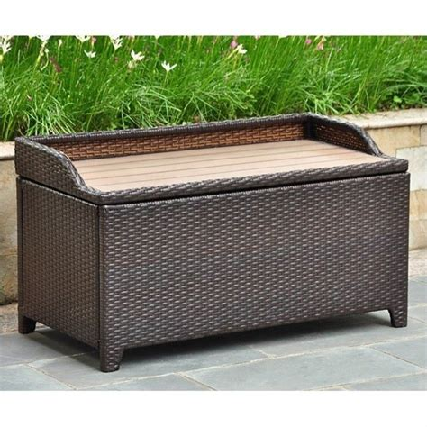 bench trunking patio bench trunk in chocolate 4221 ch
