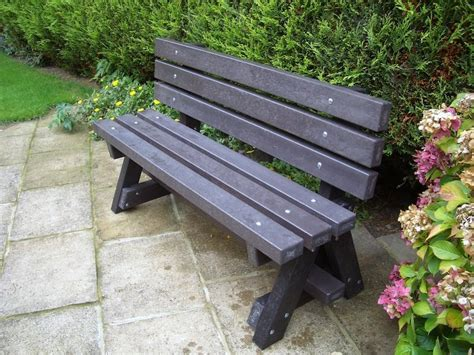 recycled park bench ribble garden bench park bench with backrest recycled plastic images frompo