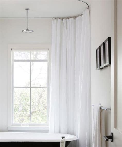 track curtain rods shower track rods