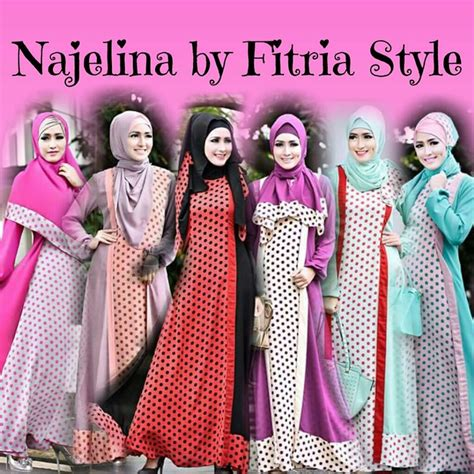Cym Syari Bublle Magenta Baju Muslim Gamis fitria style baju muslim modern
