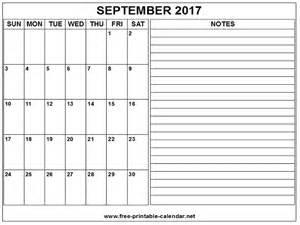 Calendar September 2017 Printable Pdf Printable Calendar 2017 September Print