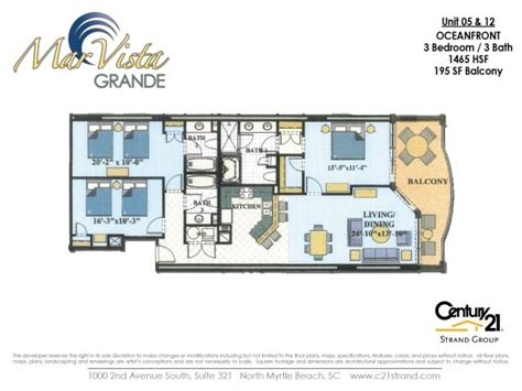 vista floor plan mar vista grande floorplans
