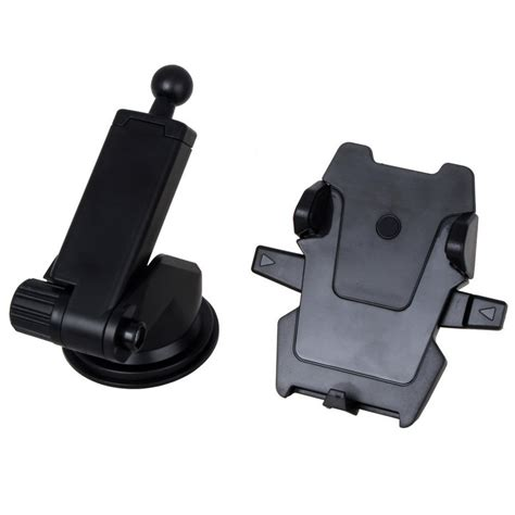 Mount Car Suction Holder Black neck suction cup one touch car mount phone holder