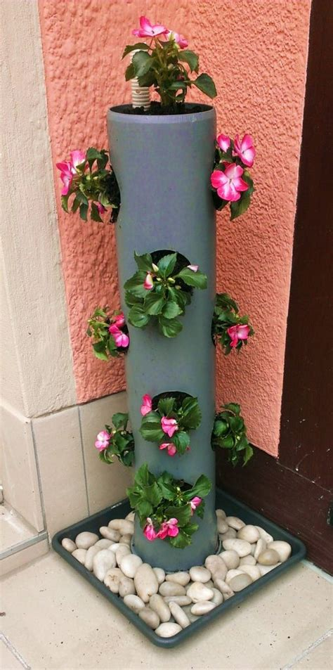 pvc pipe planter cool pvc pipe planters that will beautify any garden