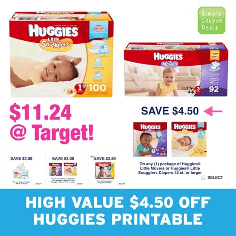 printable huggies coupons may 2015 hot high value 4 50 off huggies print it now simple