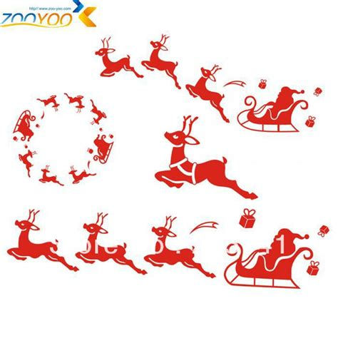 aliexpress com buy wholesale christmas wall stickers zooyoo santa claus all a good night christmas wall