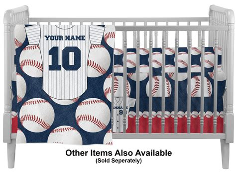 baseball jersey crib comforter quilt personalized