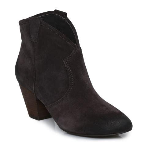 ash jalouse wood ash suede womens ankle boots shoes size 3