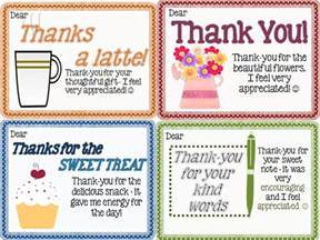 thank you notes from teachers to students freebie joy