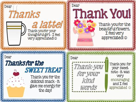 thank you card for from student template thank you notes from teachers to students freebie