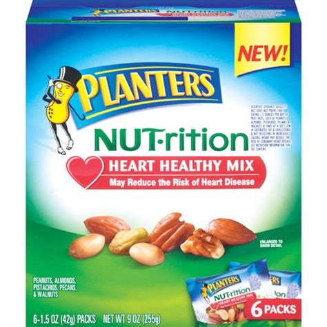 planters healthy mix planters healthy 1 5 oz nut rition mix walmart