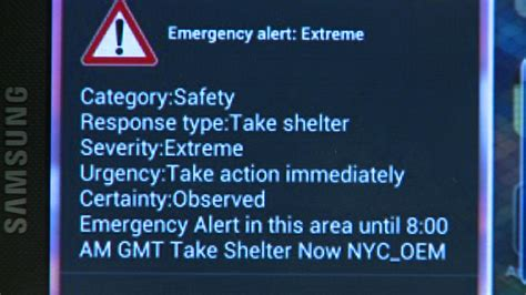 Lu Emergency emergency alert message on tv car insurance cover