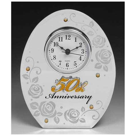 50th wedding anniversary mirror and clock gifts by