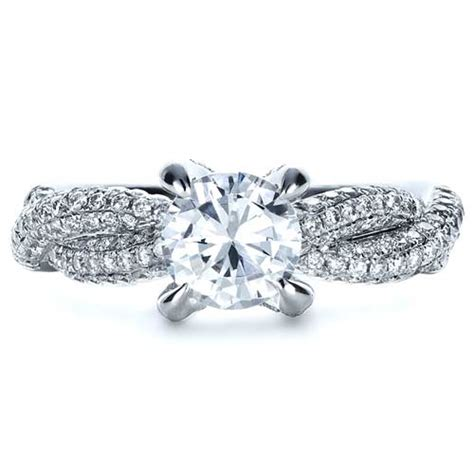 wedding bands for twisted engagement rings micro pave twisted shank engagement ring vanna k