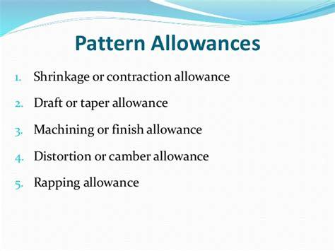 negative pattern allowances ch 21 sand casting
