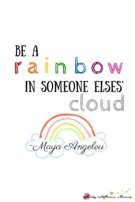 printable wellness quotes be a rainbow in someone else s cloud printable health