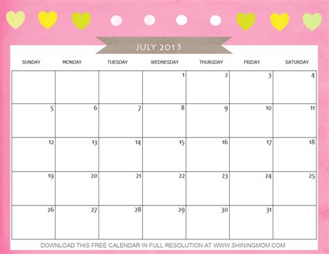 printable daily planner july 2015 monthly calendar print out page 2 calendar template 2016