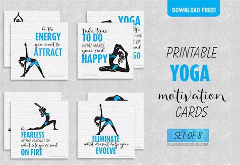 printable yoga cards yoga motivation cards 8 inspiring designs to help you