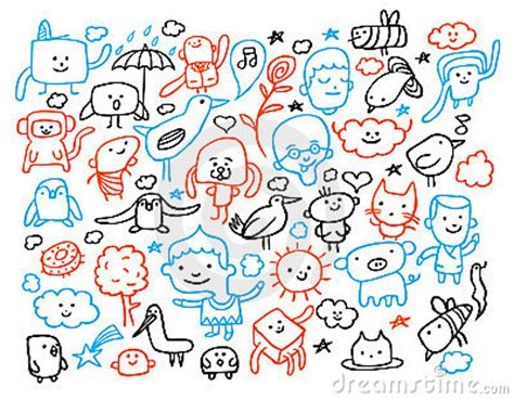 free vector doodle characters doodles royalty free stock images image 14674909