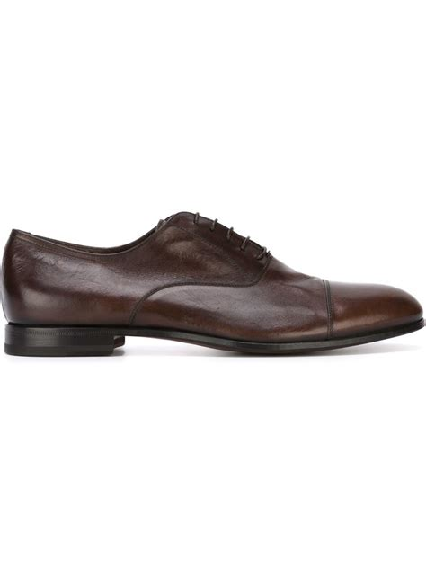 classic oxford shoes w gibbs classic oxford shoes in brown for lyst