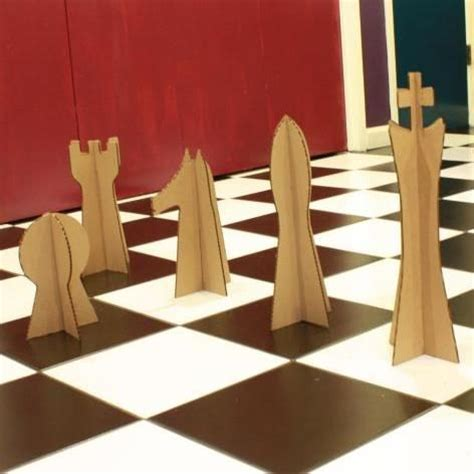 How To Make Board Pieces Out Of Paper - chess