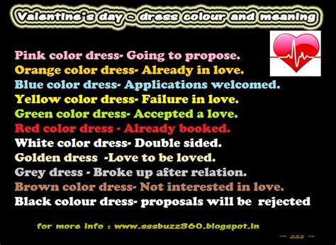 valentines meaning s day dress colours and their meanings
