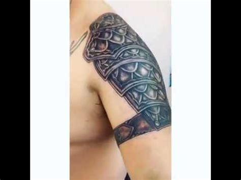tattoo on shoulder youtube shoulder armor tattoo youtube