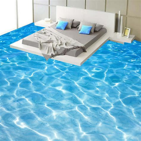 3D Wallpaper Modern Seawater Photo Mural Sticker Bathroom