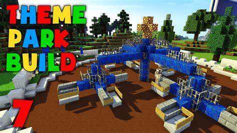 theme park maker minecraft theme park build part 7 merry mixer youtube
