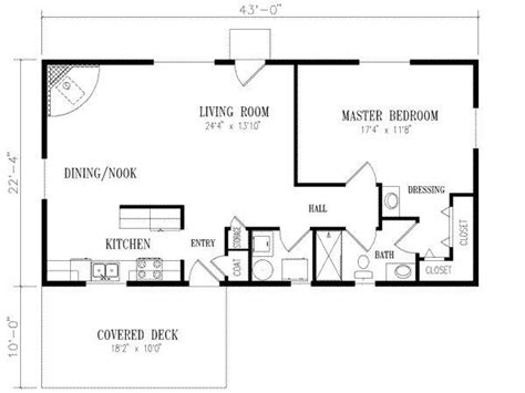 1 bedroom cottage floor plans floor plan for 20 x 40 1 bedroom search house plans in 2018 house