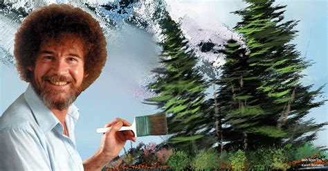 bob ross painting evergreen trees painting happy evergreen trees corel discovery center
