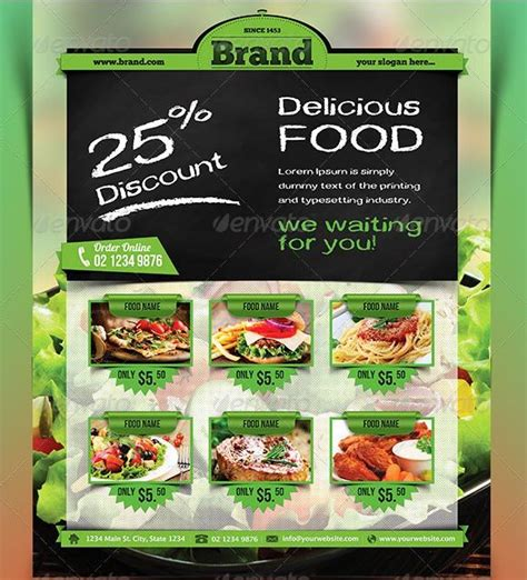 45 Best Restaurant Flyer Templates Free And Premium To Download Template Food Flyers Best Food Templates