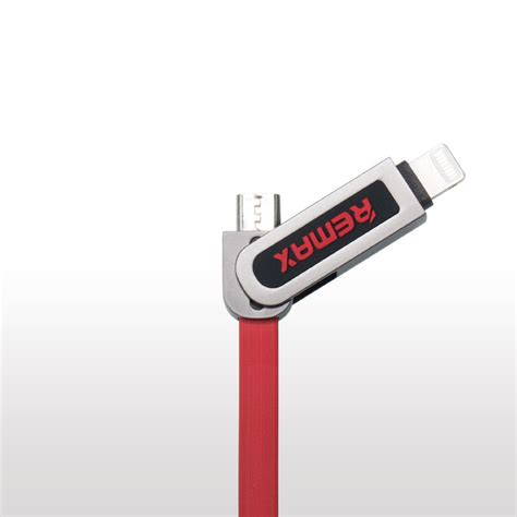 Remax Armor 2 In 1 Kabel Micro Usb Lightning 2 1a Blue armor 2 in 1 micro usb i lightning remax