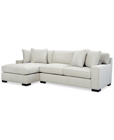 2 pc sectional with chaise bangor 2 pc sectional sofa with chaise created for macy