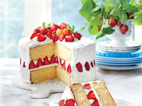 Cake Photos by Strawberry Cake Recipe Myrecipes